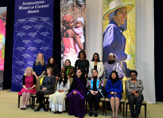 The 2014 International Women of Courage Award Winners.